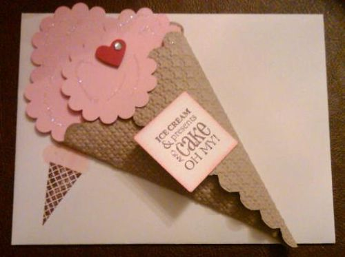 9 20 2010 Ice Cream Cone Card